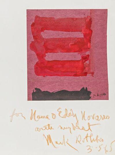 Mark Rothko, 'Untitled', 1965