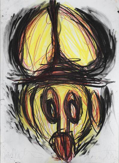 Judith Bernstein, 'Dick in a Head', 2014