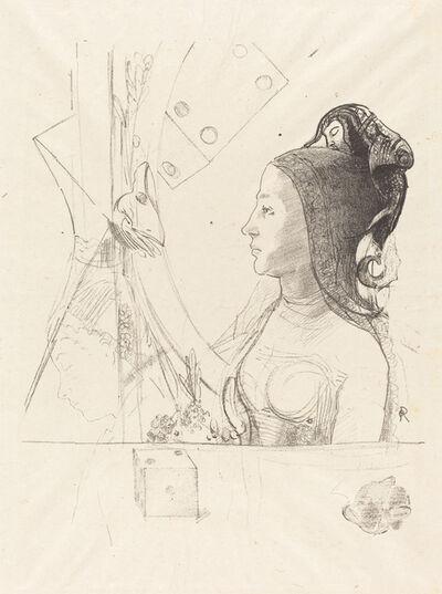 Odilon Redon, 'Femme de Profil (Profile of a Woman)', 1900
