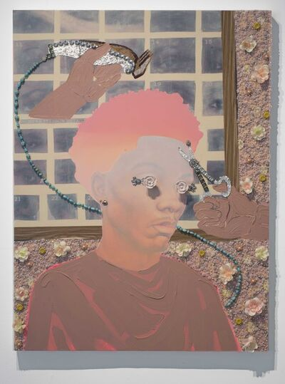 Devan Shimoyama, 'Long on the top, short on the sides', 2017