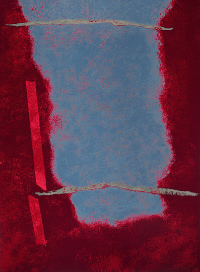 Theodoros Stamos, 'Untitled Infinity Field (Red and Blue)', 1922-1997