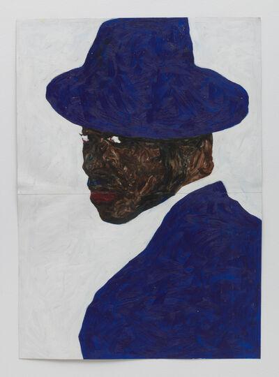 Amoako Boafo, 'Blue Hat Blue Jacket', 2019