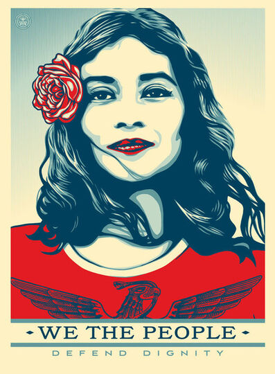 Shepard Fairey, 'Defend Dignity Offset Poster', 2017