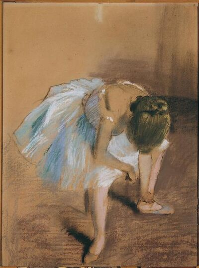 Edgar Degas, 'Seated Dancer With Hand on Her Ankle ', 1879