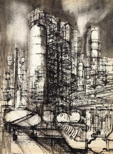 Lorenzo Vespignani, 'Refinery', executed in 1958