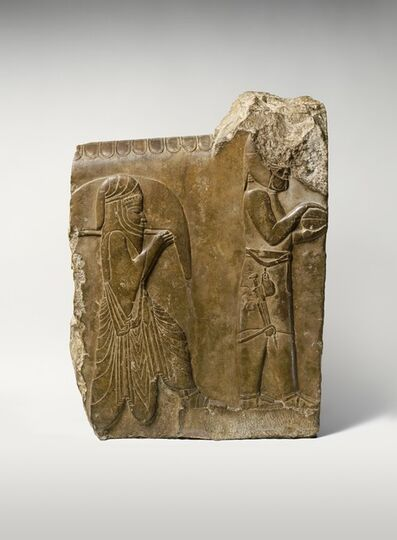 Unknown Achaemenid, 'Relief: two servants bearing food and drink', ca. 358–338 B.C.