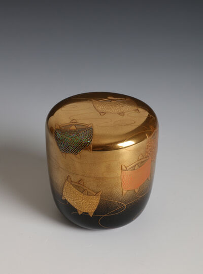 Soga Arai, 'Tea Caddy with Thread Spools (T-4399)', Showa era (1926, 89), 1980's