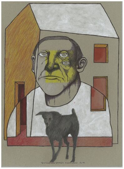 Guillermo Ganga, 'Portrait with dog', 2016