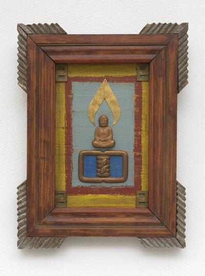 Betye Saar, 'Floating Buddha with Coiled Snake', 1993