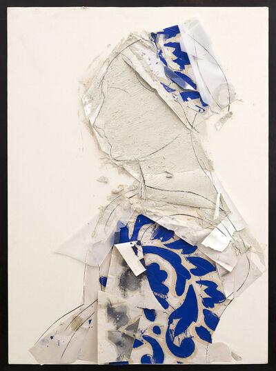 Manolo Valdés, 'Perfil sobre fondo blanco', 2014