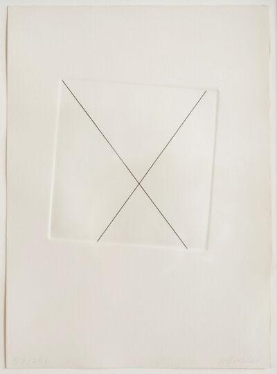 François Morellet, 'Untitled (gravure 5-95° avec les deux diagonales de la feuilles de papier)', 1983