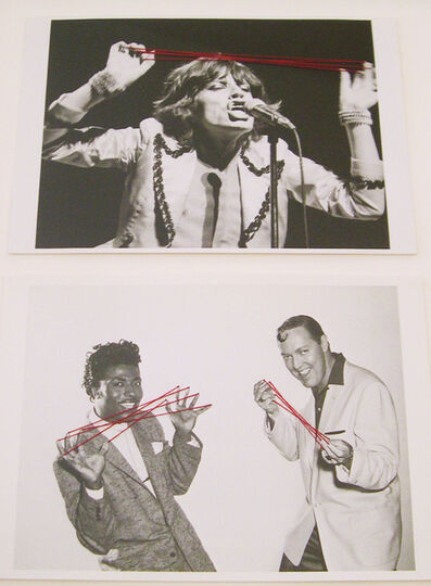 Nina Katchadourian, ' Mick Jagger, 1976, and Little Richard and Bill Haley, 1956, from the series Paranormal Postcard', 2004