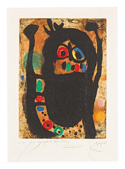 Joan Miró, 'La femme aux bijoux (Frau mit Schmuck)', 1968