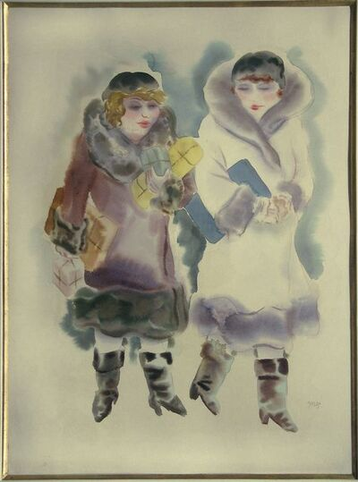 George Grosz, 'Two Women Walking', ca. 1929