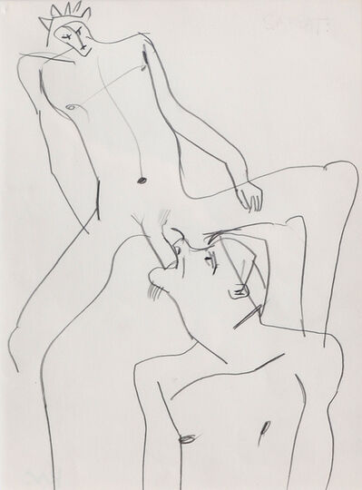 Keith Vaughan, 'Two Male Nudes', 1975