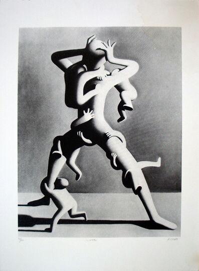 Mark Kostabi, 'Climbing', 1988
