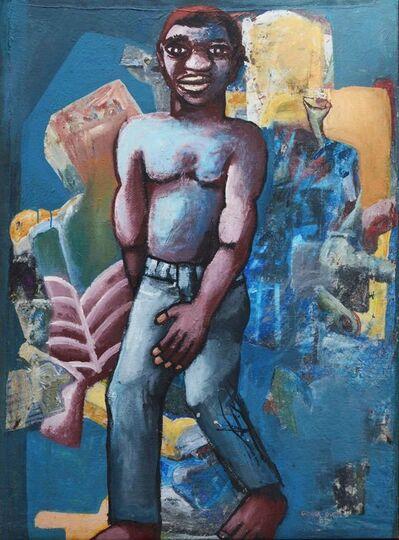 Amadou Camara Gueye, 'Man on Blue Background', 2001