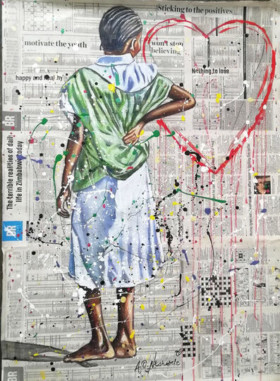 Andrew Ntshabele, 'Love conquers all I', 2020