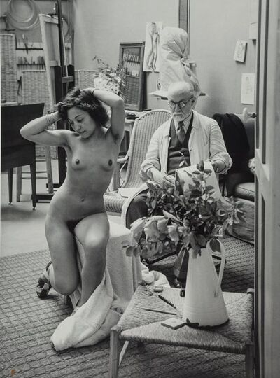 Brassaï, 'Matisse and his Model at the Villa D'Alésia, Paris'
