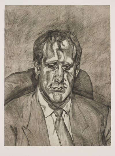 Lucian Freud, 'Head of an Irishman', 1999