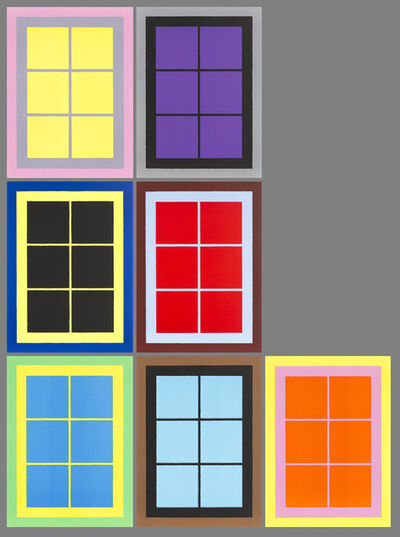 Ugo Rondinone, 'Seven Windows (series of 7 lithographs each 76x56 cm)', 2015