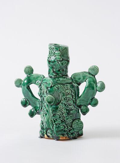 Glenn Barkley, 'green bottle with shell handles', 2019