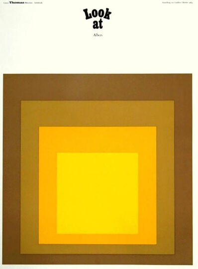 Josef Albers, 'Josef Albers Galerie Thomas 1969 poster (Homage to the Square) ', 1969