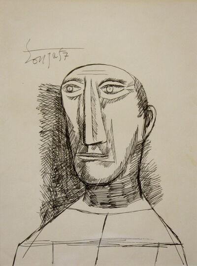 Francis Newton Souza, 'Untitled (Portrait 4)'