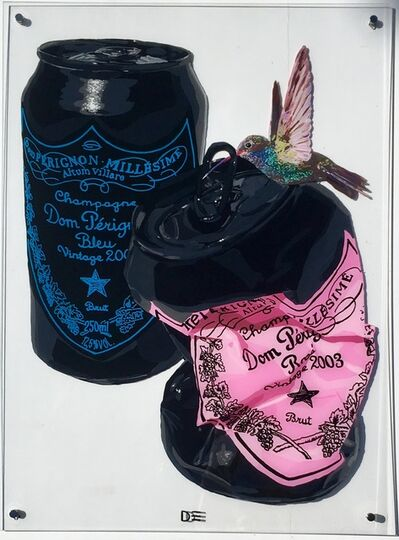 Dominique Steffens, 'Black Cans With Bird', 2018