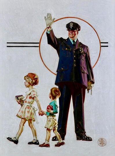 Joseph Christian Leyendecker, 'Policeman and School Children, SEP Cover, Oct. 3, 1931', 1931