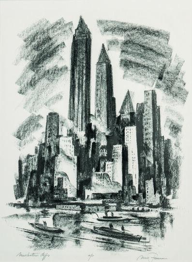 Mark Freeman, 'Manhattan Cliffs', 1952