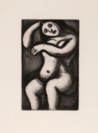 Georges Rouault, 'Femme Nue Assise from Le Reincarnations du Pere Ubu', 1928