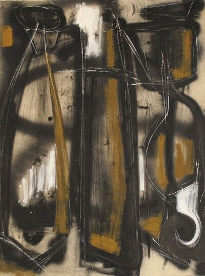 Dusti Bongé, 'Untitled (Black Totems with Brown and White)', 1954