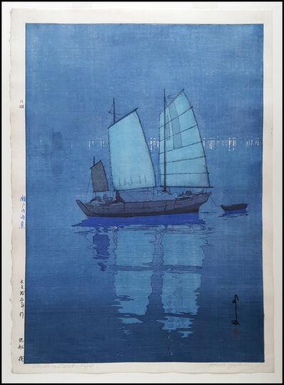 Yoshida Hiroshi, 'Sailing Boats Night', 1926