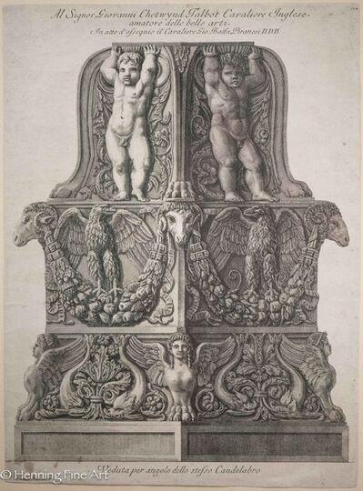 """Giovanni Battista Piranesi, 'Another view of the same candelabra, """"Veduta per angolo dello stresso Candelabro"""" #844', ca. 1778"""