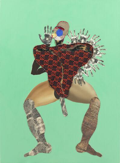 Tschabalala Self, 'Black Hand', 2020