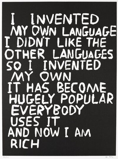 David Shrigley, 'Untitled (I Invented My Own Language)', 2014