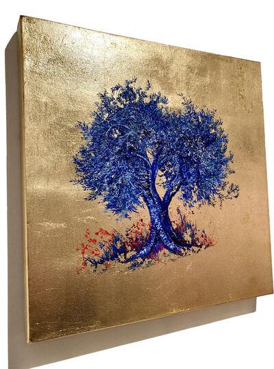 Anastasia Gklava, 'Indigo, Blue Blossom Tree', 2019