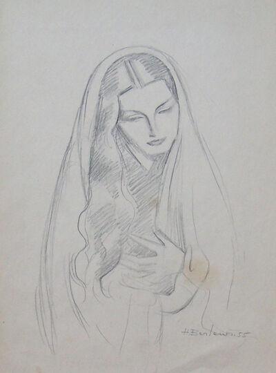 Henryk Berlewi, 'Woman with Long Hair', 1955