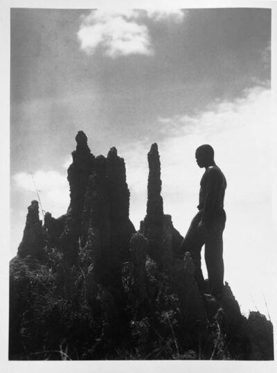Martin Munkacsi, 'Liberia: Liberian in front of a Termite Hill', ca. 1930