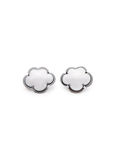 Lisa Crowder, 'White Enamel Cloud Earrings', 2018