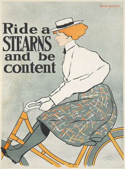 Edward Penfield, 'Ride a Stearns and Be Content.', ca. 1896