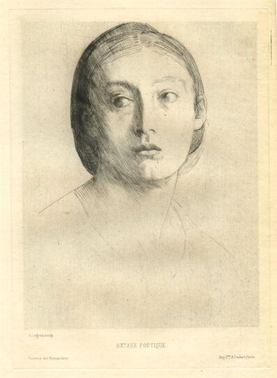 Alphonse Legros, 'Tête de jeune fille / Extase poétique', 1875