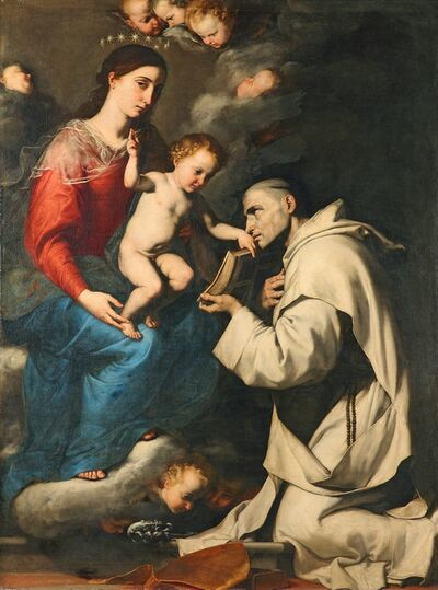 Jusepe de Ribera, 'Madonna mit dem heiligen Bruno', 1624