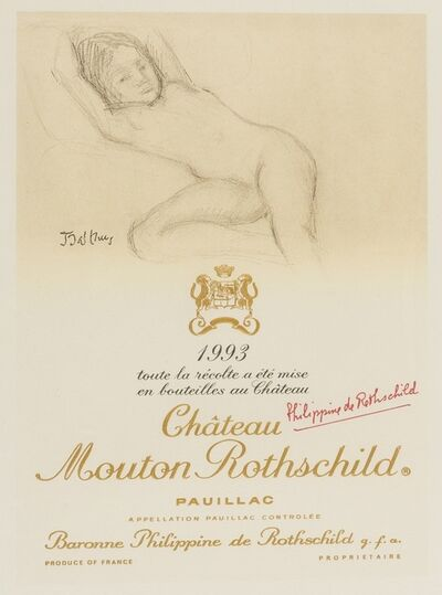 Balthus, 'Chateau Mouton Rothschild Pauillac wine label', 1993