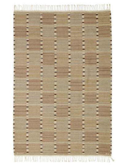 Barbro Nilsson, 'Falurutan. Handwoven wool carpet in rölakan technique. Geometric, polychrome pattern.'