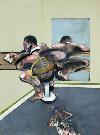 Francis Bacon, 'Figure Writing Reflected in a Mirror', ca. 1976