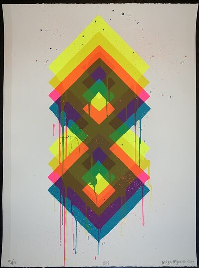 "Maya Hayuk, '""808"" 420 Maya Hayuk 2019 Hand Pulled Print Hand Embellished ', 2019"