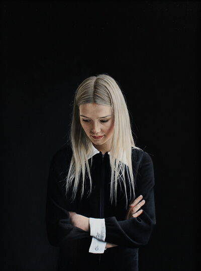 Charles Moxon, 'Sarah in a Black Dress', 2014