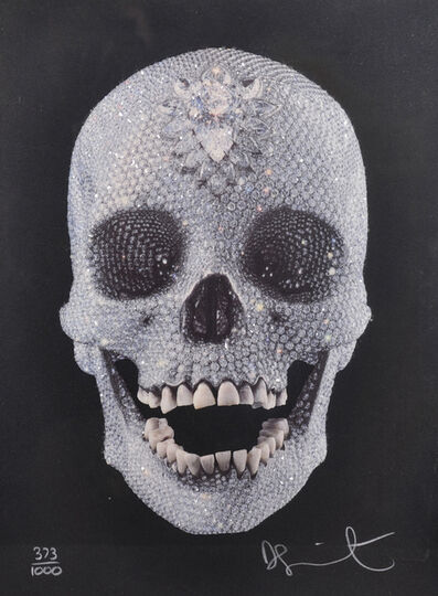 Damien Hirst, 'For The Love Of God - Diamond Encrusted Screen print and signed book', 2007